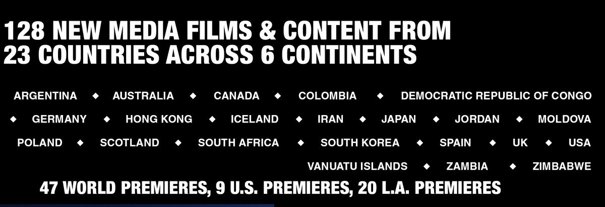 128 Premieres from 23 Countries across 6 continents