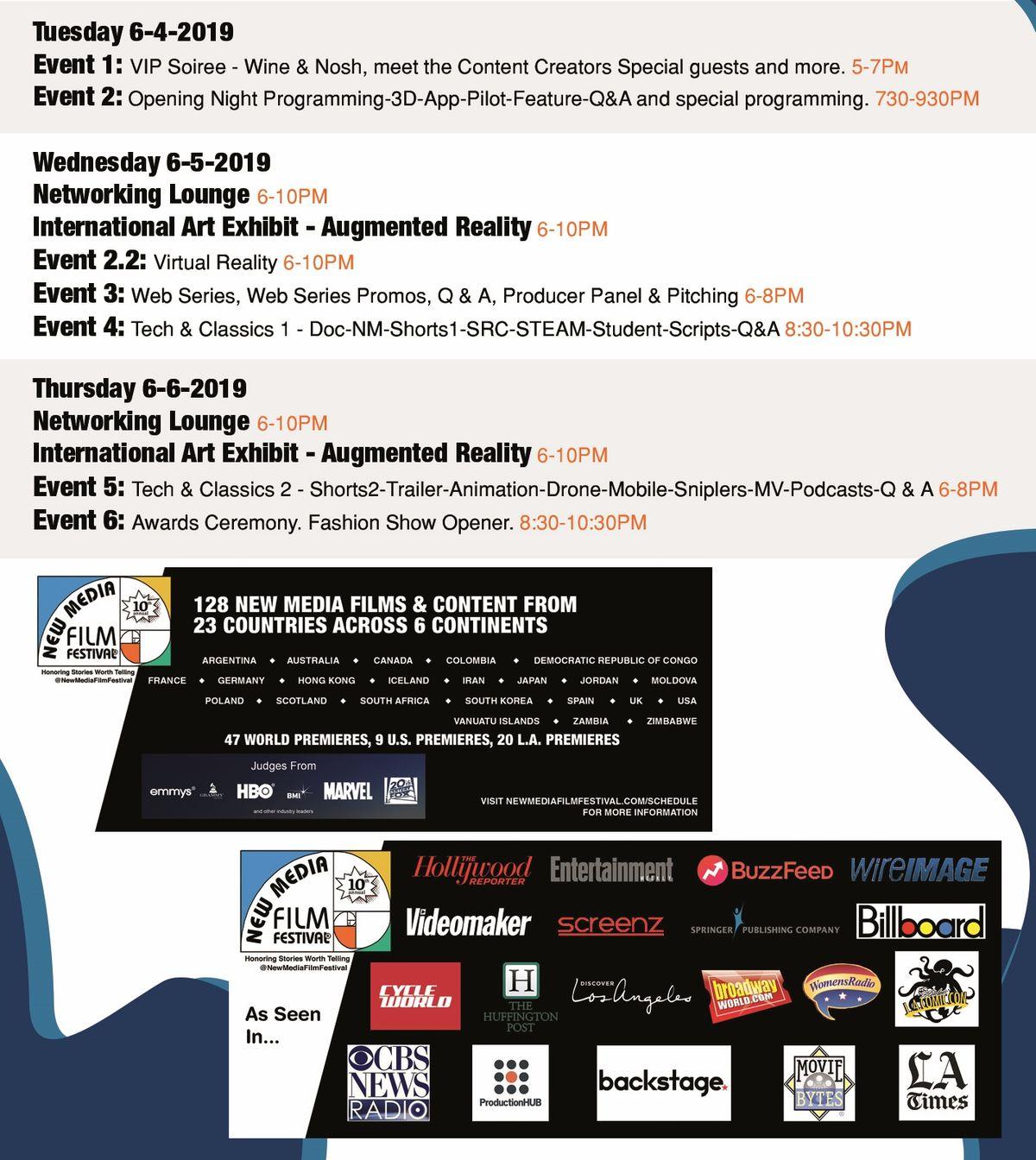 New Media Film Festival Lineup